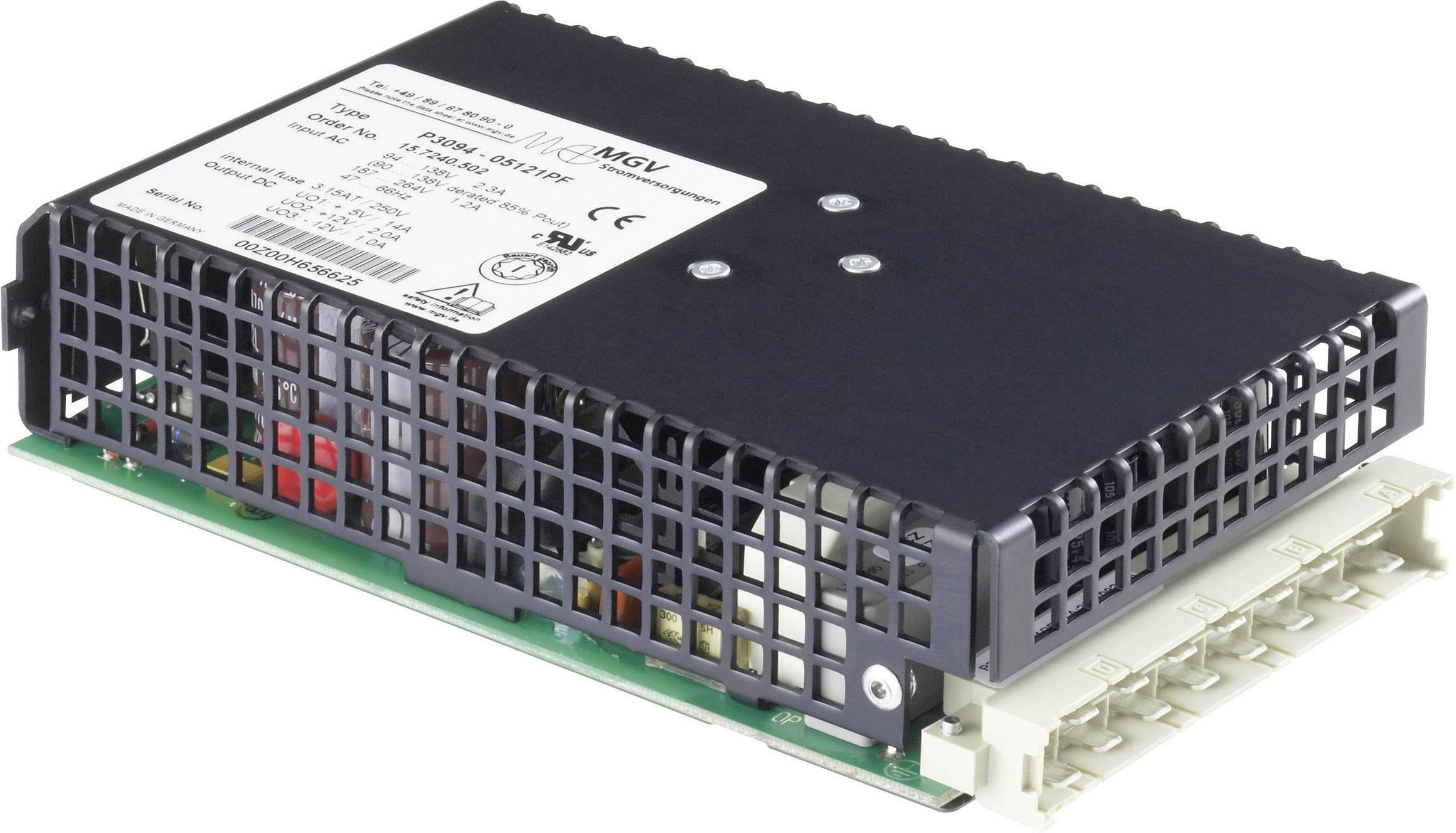Vestavný spínaný síťový zdroj mgv P3094-0512PF na DIN lištu, 5.1 V/DC / 14 A