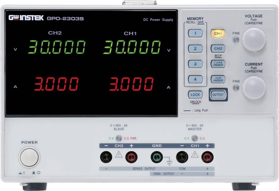 Laboratórny sieťový zdroj GW Instek GPD-3303S, 1 mV - 30 V, 1 mA - 3 A