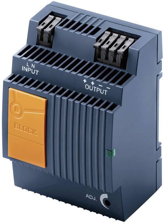 Sieťový zdroj na montážnu lištu (DIN lištu) Block PEL 230/24-2,5, 2 x, 24 V/DC, 2.5 A, 60 W