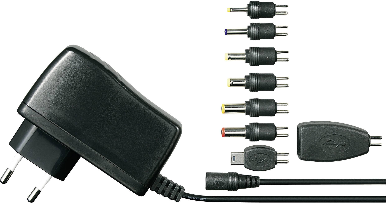 Síťový adaptér + sada konektorů Voltcraft SPS5-12W,5 V/DC, 12 W
