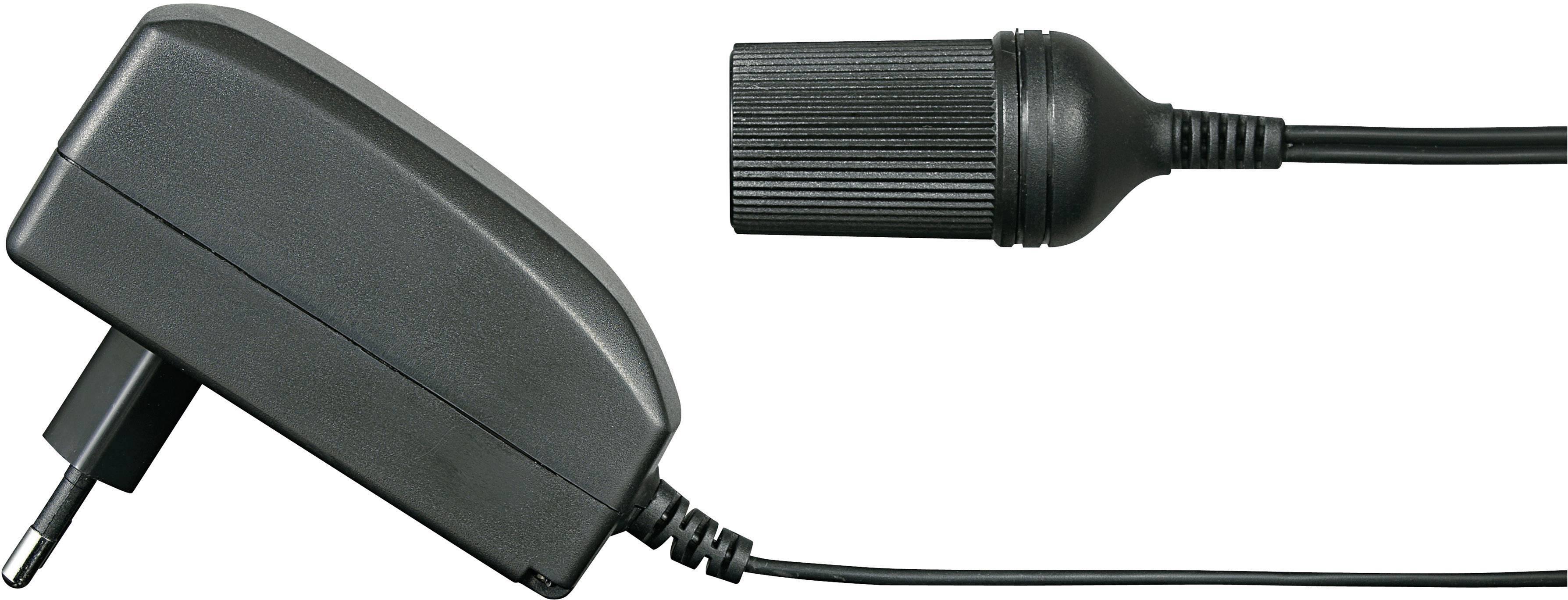 Síťový adaptér s konektorem doauta Voltcraft, FPPS 12-27W, 12 V/DC, 27 W