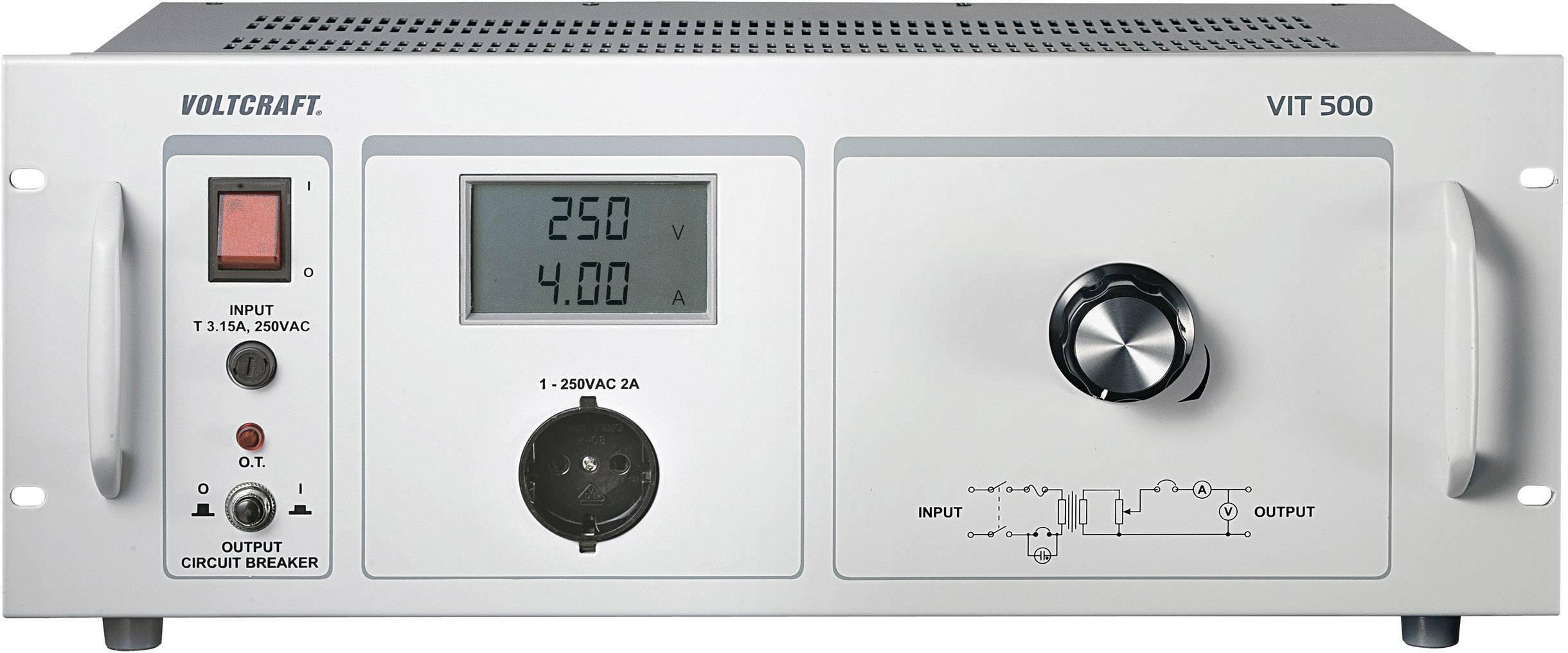 Laboratorní transformátor VOLTCRAFT VIT-500, 500 VA, 230 V/AC