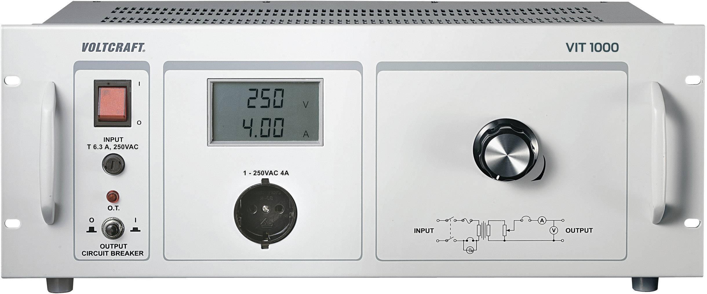 Laboratorní transformátor VOLTCRAFT VIT-1000