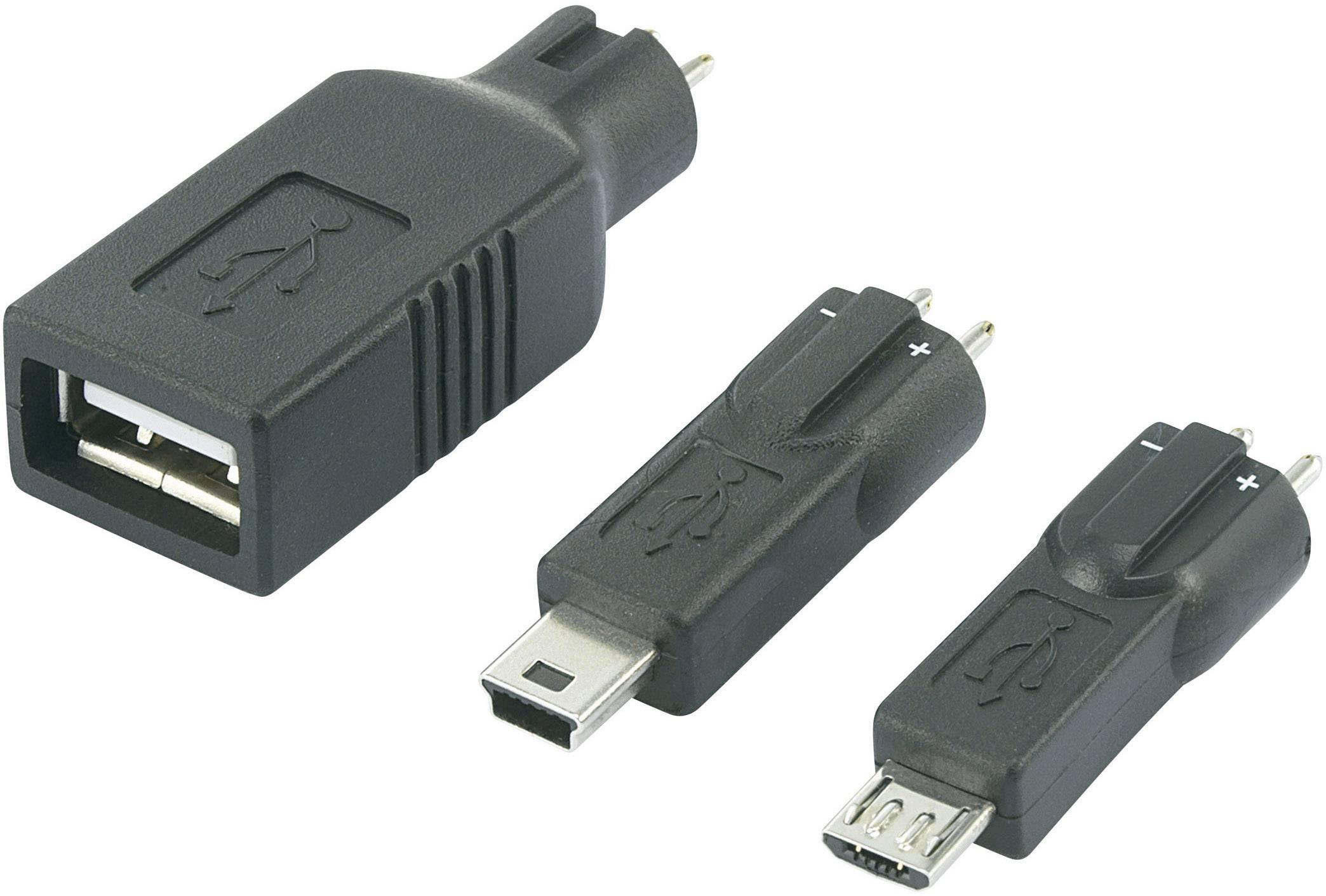 USB, MiniUSB a MicroUSB redukce k síťovým adaptérům Voltcraft