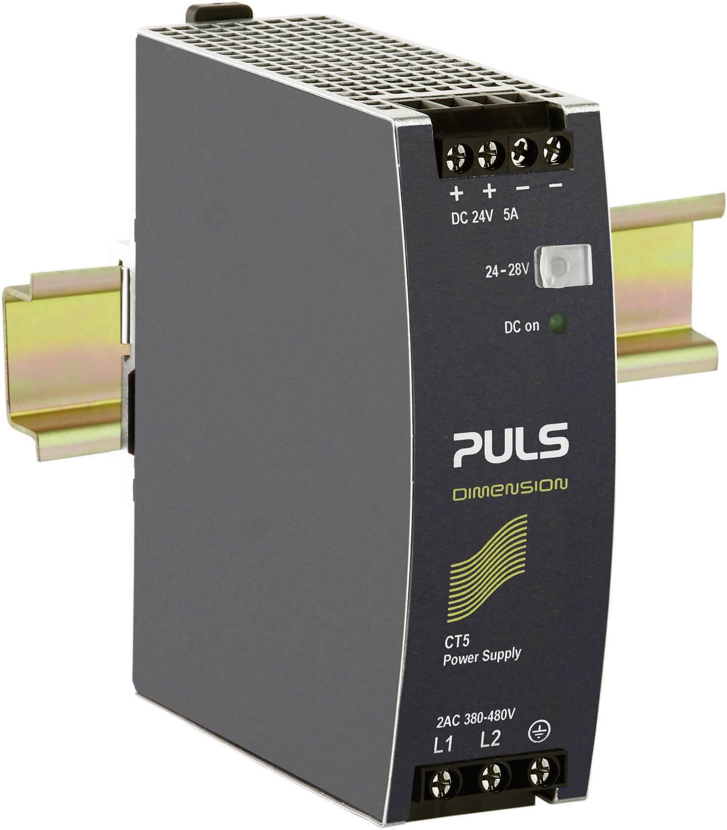 Sieťový zdroj na montážnu lištu (DIN lištu) PULS DIMENSION CT5.241, 1 x, 24 V/DC, 5 A, 120 W