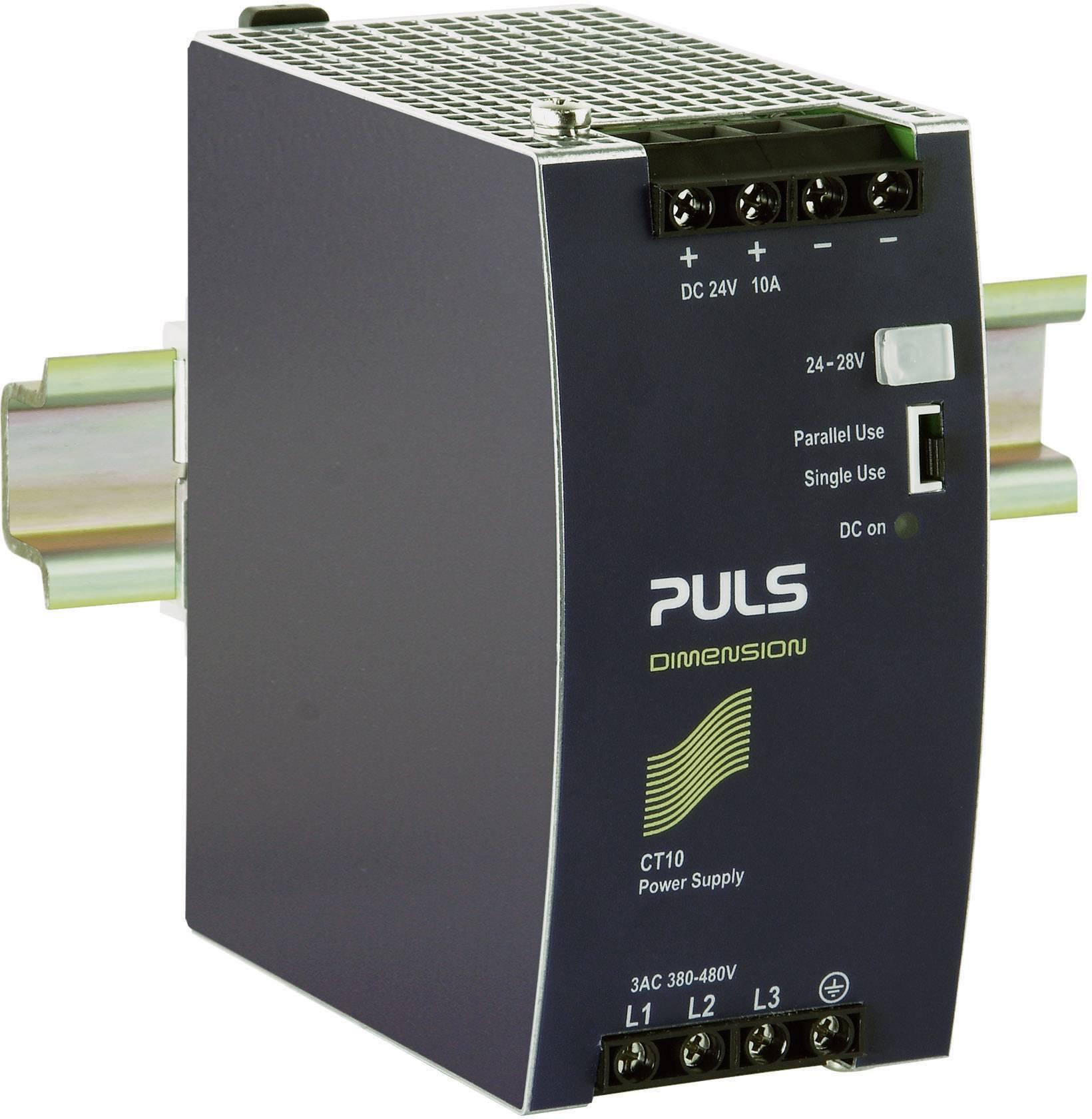 Sieťový zdroj na montážnu lištu (DIN lištu) PULS DIMENSION CT10.241, 1 x, 24 V/DC, 10 A, 240 W