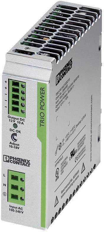 Sieťový zdroj na montážnu lištu (DIN lištu) Phoenix Contact TRIO-PS/1AC/12DC/10, 1 x, 12 V/DC, 10 A, 120 W