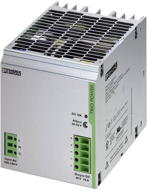 Zdroj na DIN lištu Phoenix Contact TRIO-PS/1AC/48DC/10, 48 V/DC, 10 A