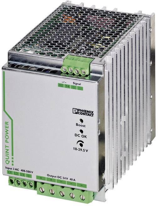 Zdroj na DIN lištu Phoenix Contact QUINT-PS/3AC/24DC/40, 40 A, 24 V/DC