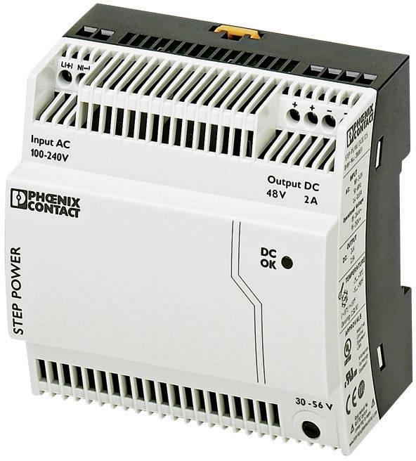Sieťový zdroj na montážnu lištu (DIN lištu) Phoenix Contact STEP-PS/1AC/48DC/2, 1 x, 48 V/DC, 2 A, 96 W