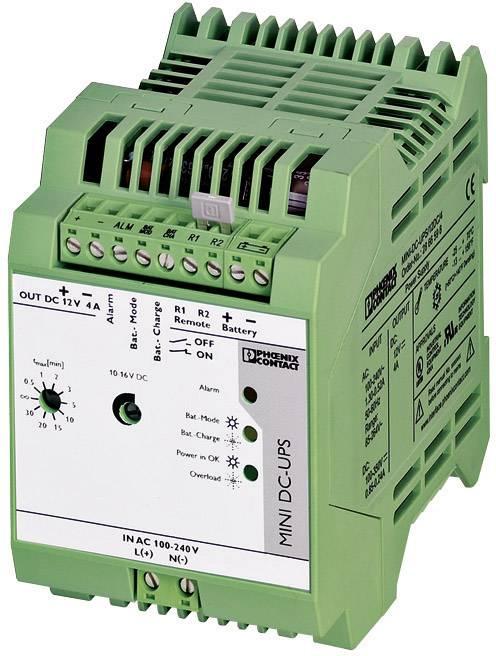 Záložní zdroj Phoenix Contact MINI-BAT/12DC/4AH na DIN lištu