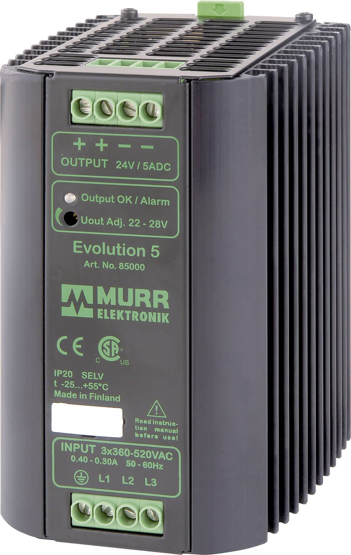 Zdroj na DIN lištu Murr Elektronik Evolution 85000, 5 A, 24 V/DC