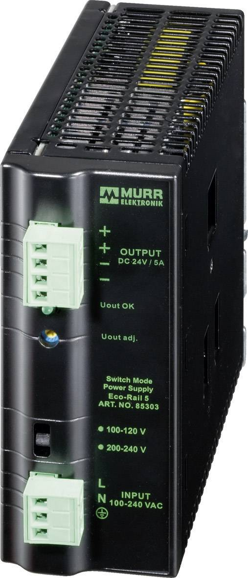 Zdroj na DIN lištu Murr Elektronik Eco-Rail 85302, 2,5 A, 24 V/DC