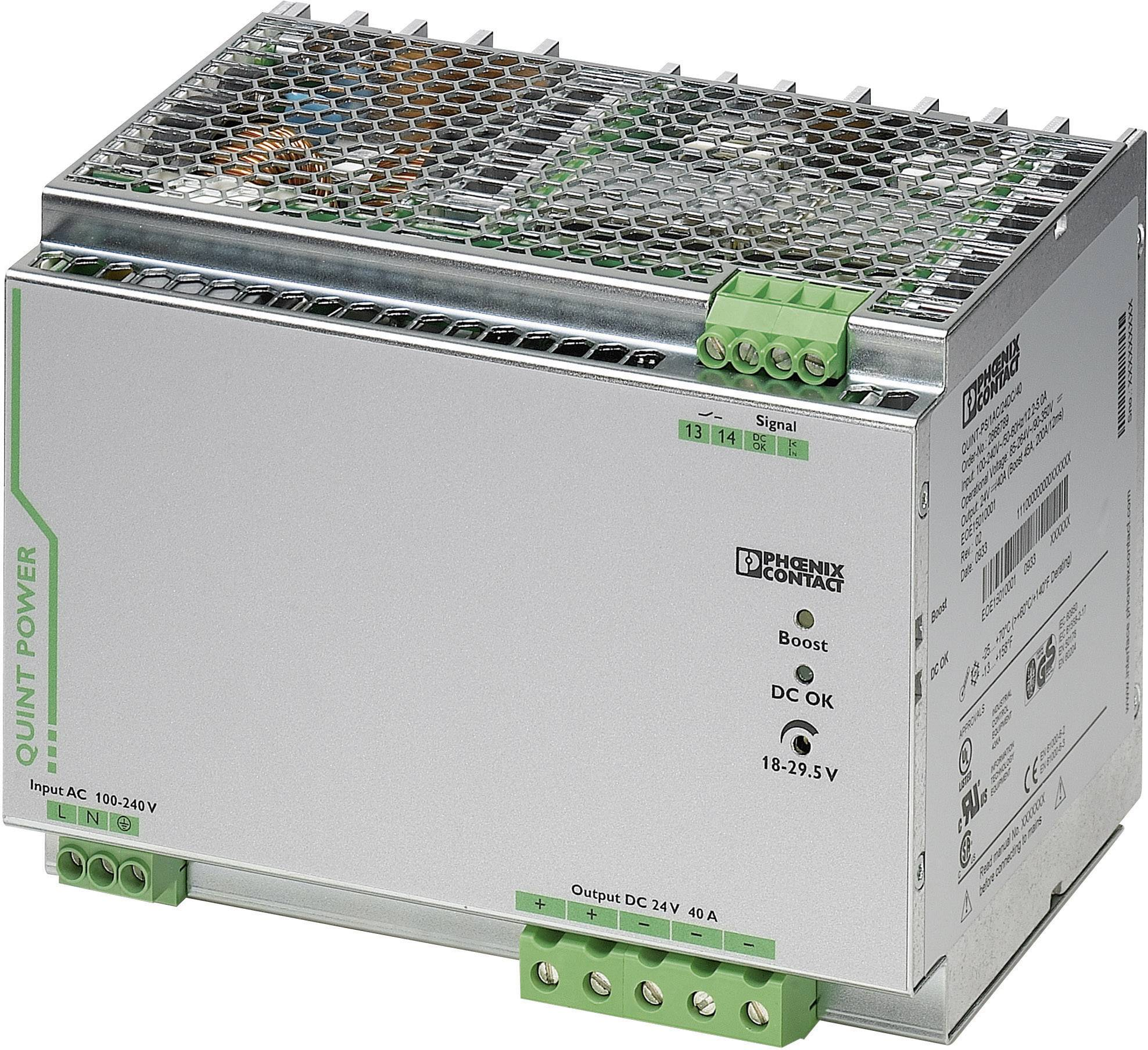 Zdroj na DIN lištu Phoenix Contact QUINT-PS/1AC/24DC/40, 40 A, 24 V/DC