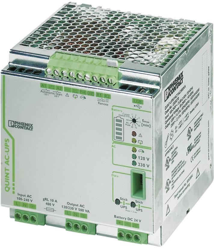 UPS do lišty Phoenix Contact QUINT-UPS/ 1AC/1AC/500VA 2320270