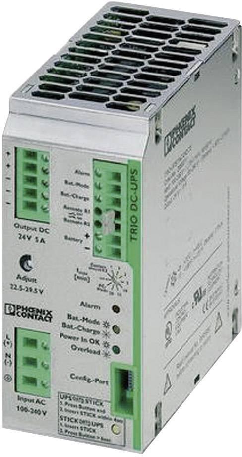 UPS do lišty Phoenix Contact TRIO-UPS/1AC/24DC/ 5 2866611