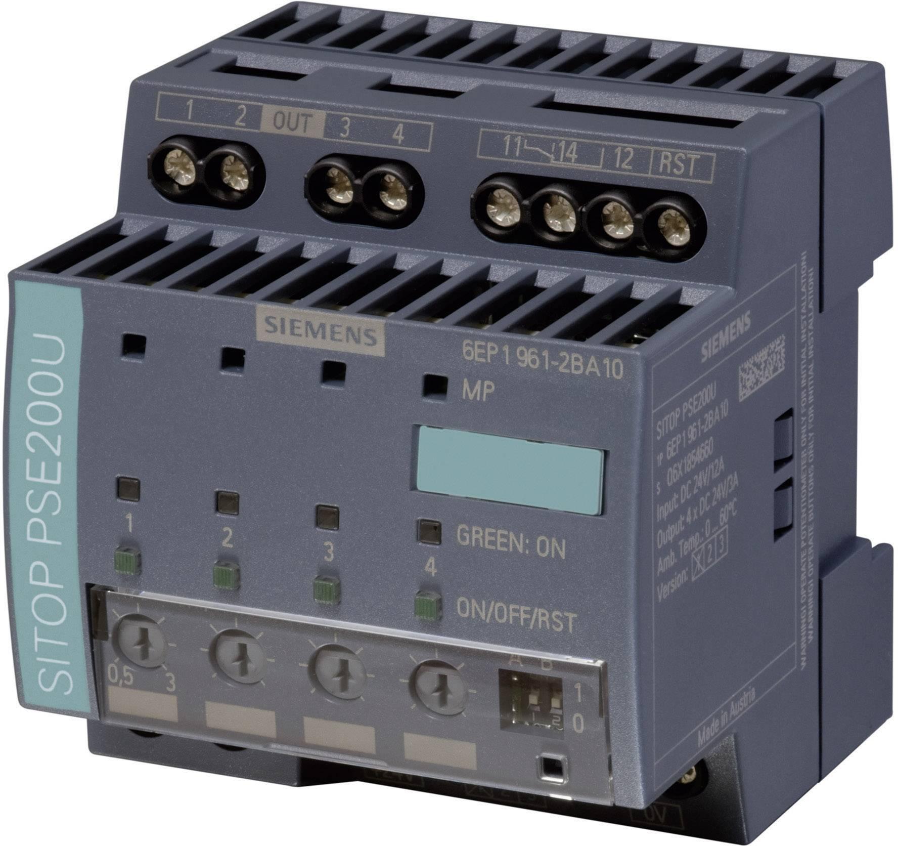 Selektivní modul Siemens SITOP PSE 200U 3A, 24 V/DC/3-10 A