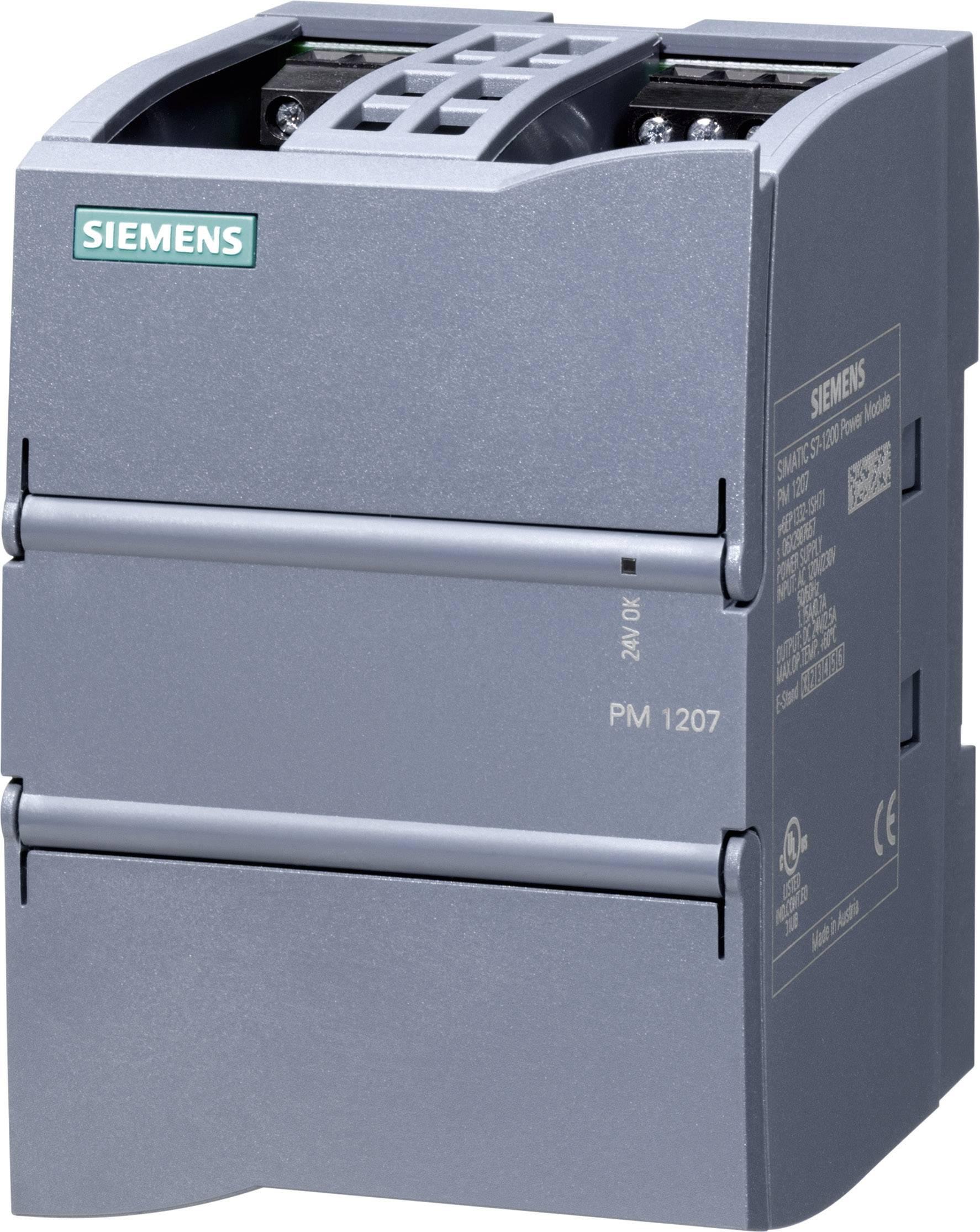 Zdroj na DIN lištu Siemens SIMATIC S7-1200 PM1207, 24 V/DC, 2,5 A
