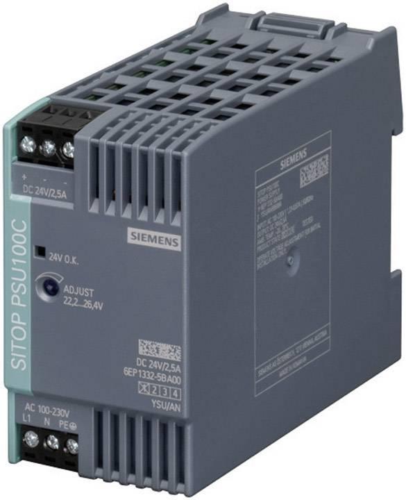 Zdroj na DIN lištu Siemens SITOP PSU100C, 24 V/DC, 2,5 A