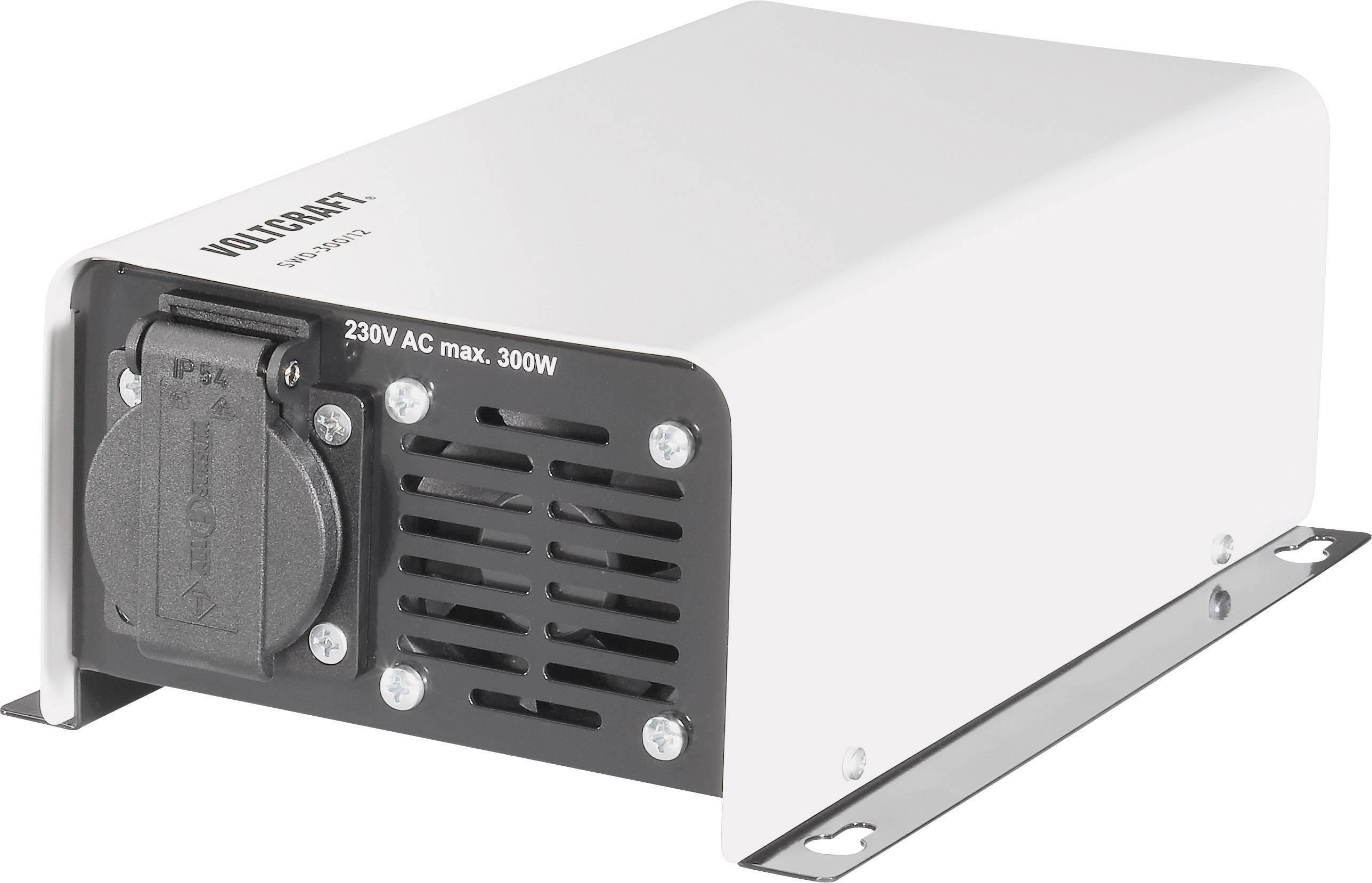 Menič napätia DC / AC VOLTCRAFT SWD-300/12, 300 W, 12 V/DC/230 V/AC, 300 W diaľkovo zapínateľný