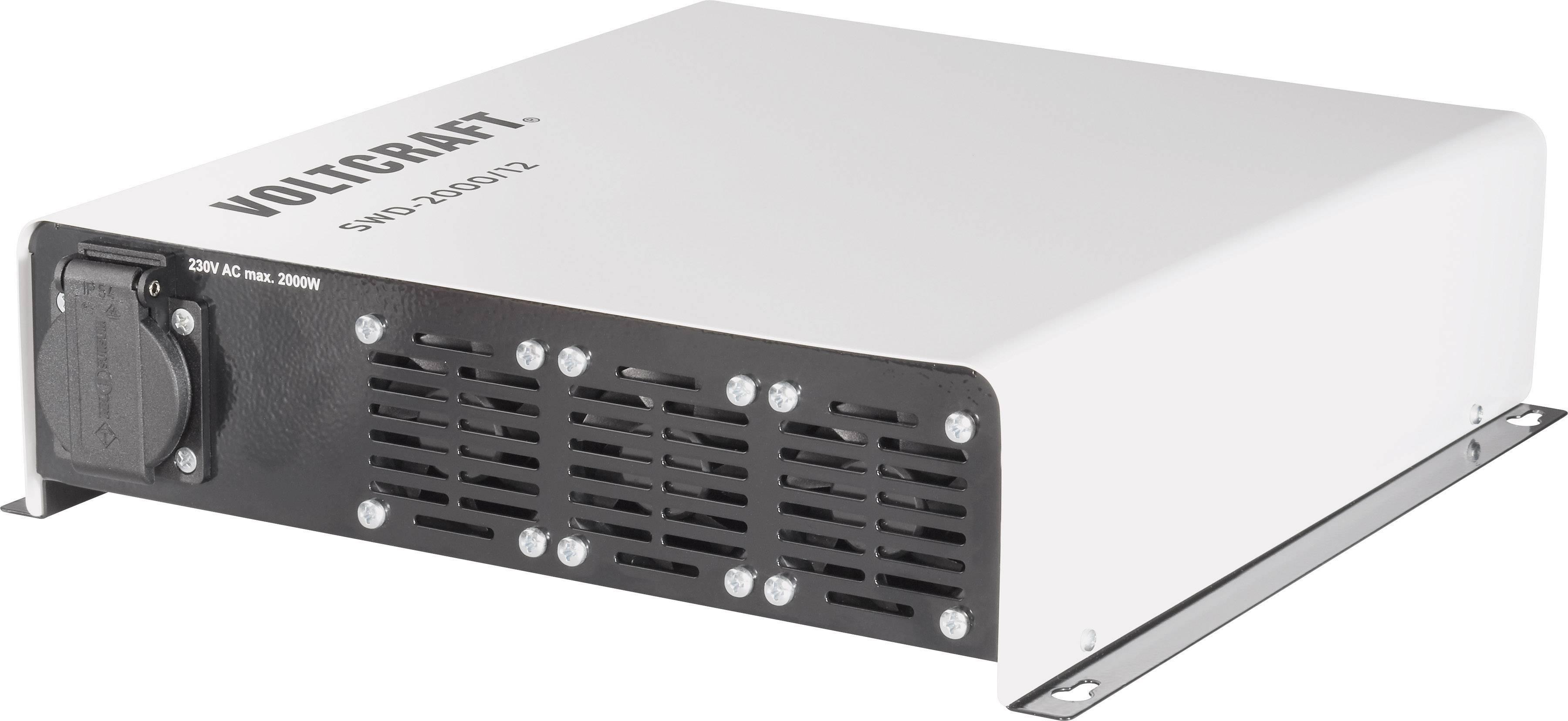 Menič napätia DC / AC VOLTCRAFT SWD-2000/12, 2000 W, 12 V/DC/230 V/AC, 2000 W diaľkovo zapínateľný