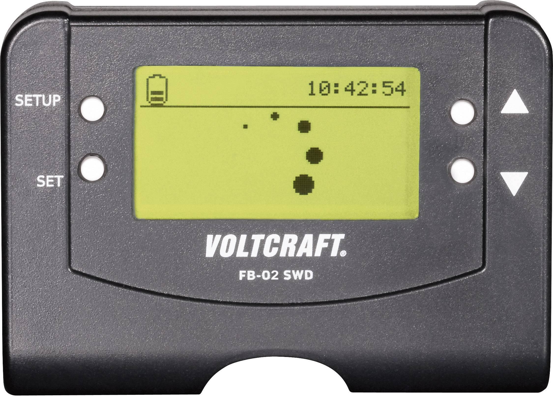 Kabelové dálkové ovládání s displejem Voltcraft FB-02 SWD
