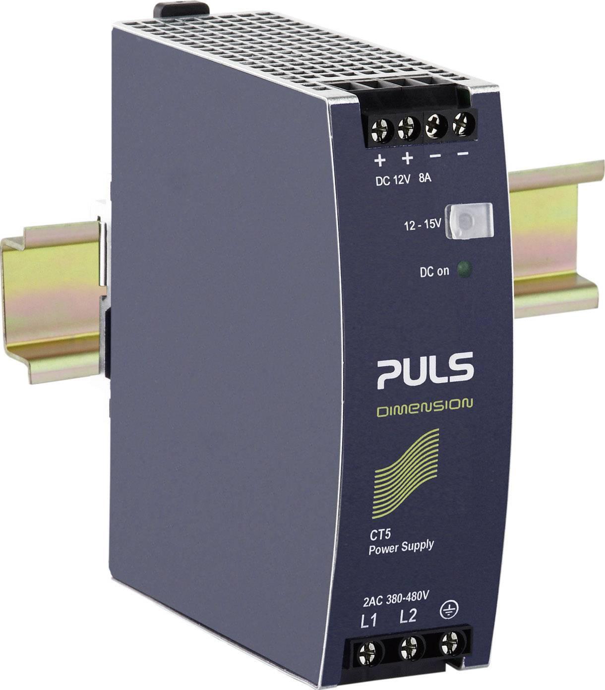 Zdroj na DIN lištu PULS Dimension CT5.121, 8 A, 12 V/DC