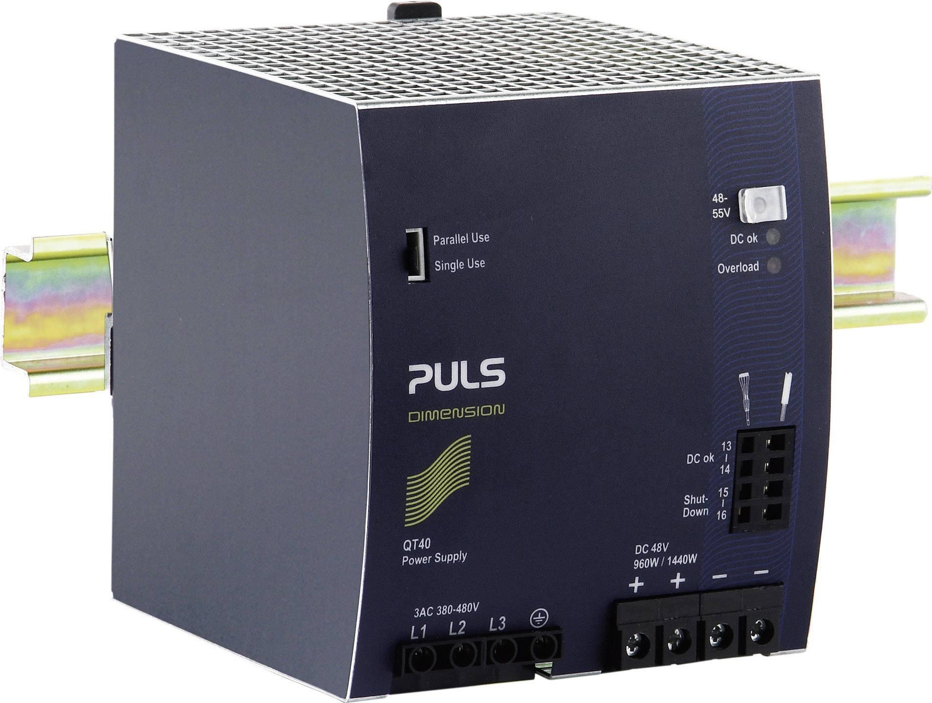 Zdroj na DIN lištu PULS Dimension QT40.481, 20 A, 48 V/DC
