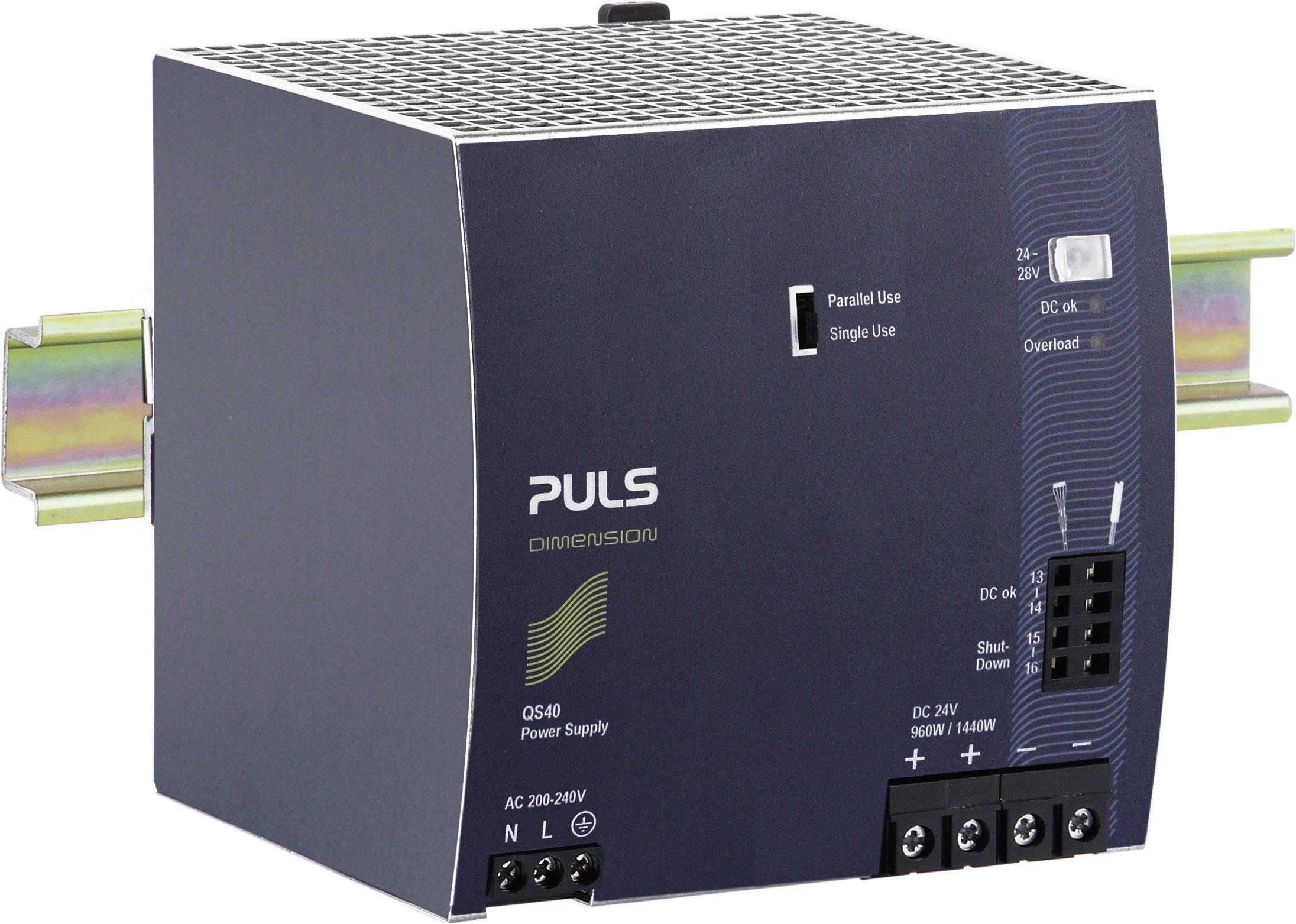 Zdroj na DIN lištu PULS Dimension QS40.244, 40 A, 24 V/DC