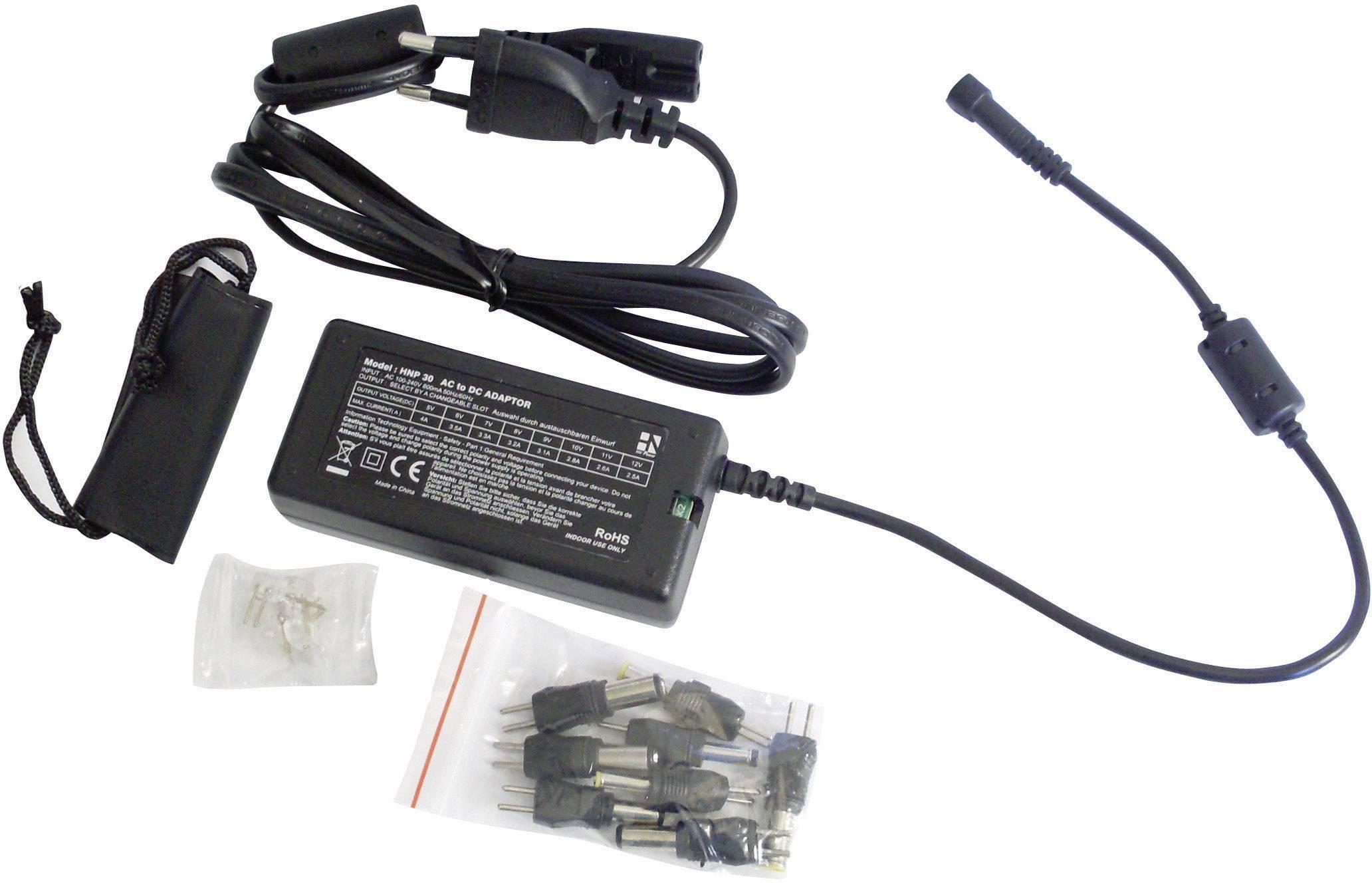Univerzální síťový adaptér HN Power HNP30-Uni, 5 - 12 VDC, 30 W