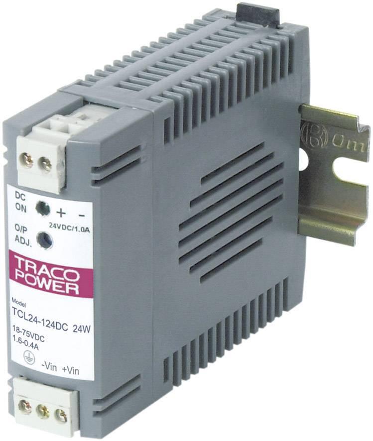 Sieťový zdroj na montážnu lištu (DIN lištu) TracoPower TCL 012-124DC, 1 x, 24 V/DC, 1 A, 12 W