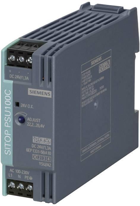 Zdroj na DIN lištu Siemens SITOP PSU100C, 24 V/DC, 2 A