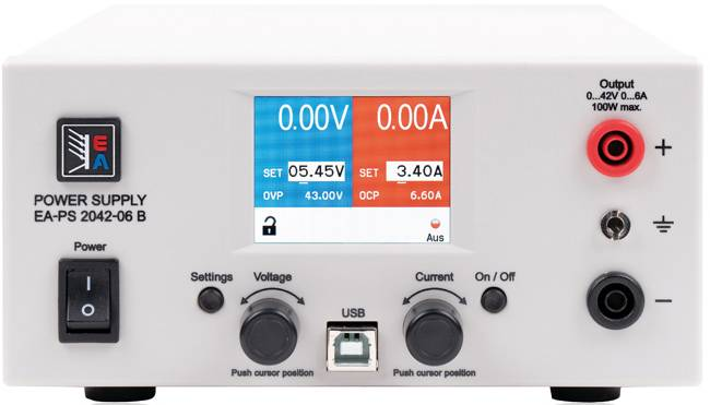 Laboratórny zdroj s nastaviteľným napätím EA Elektro-Automatik EA-PS 2042-06B, 0 - 42 V/DC, 0 - 6 A, 100 W