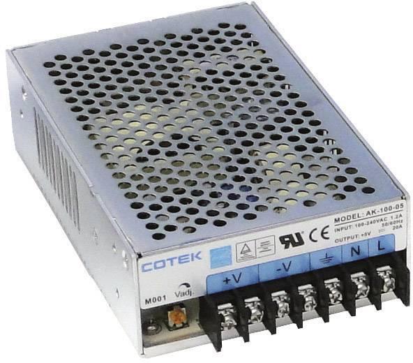 Zabudovateľný zdroj AC/DC Cotek AK 100-05, 5.5 V/DC, 20 A, 100 W