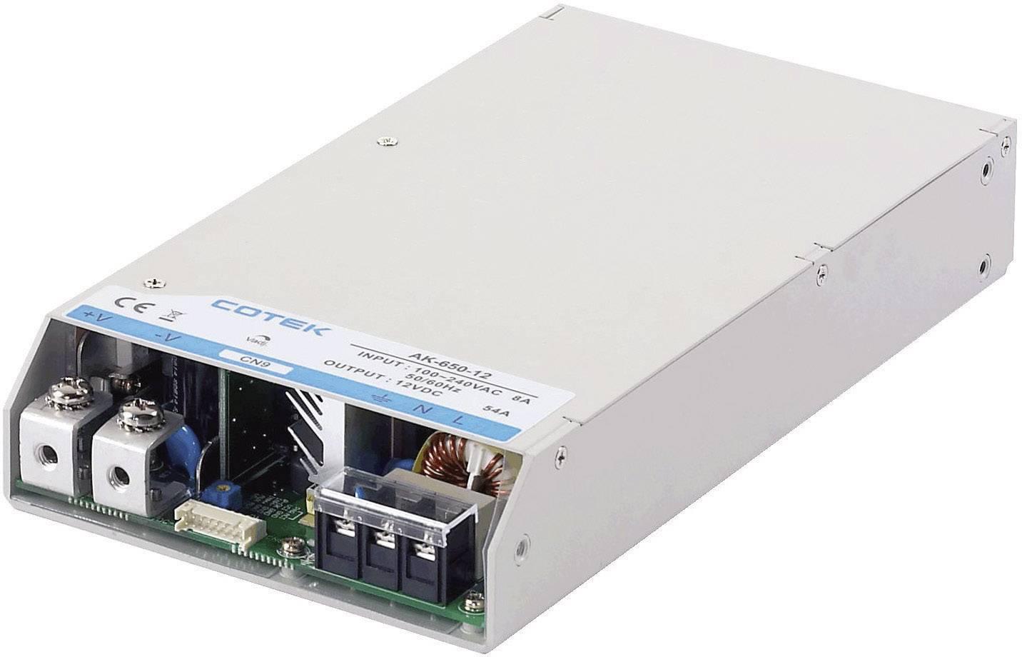 Zabudovateľný zdroj AC/DC Cotek AK 650-12, 12 V/DC, 50 A, 600 W