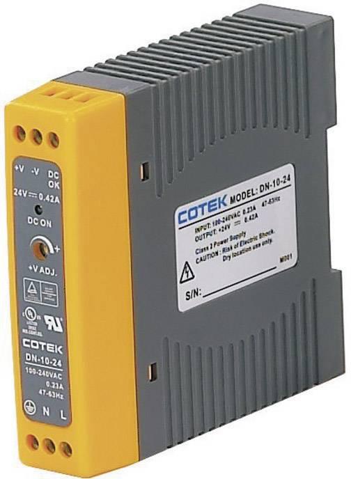 Sieťový zdroj na montážnu lištu (DIN lištu) Cotek DN 10-12, 1 x, 12 V/DC, 0.84 A, 10 W