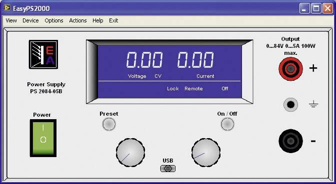 Software EA Elektro-Automatik EasyPS2000B 33100226/