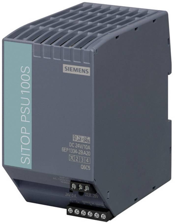 Sieťový zdroj na montážnu lištu (DIN lištu) Siemens SITOP PSU100S 24 V/10 A, 1 x, 24 V/DC, 10 A, 240 W