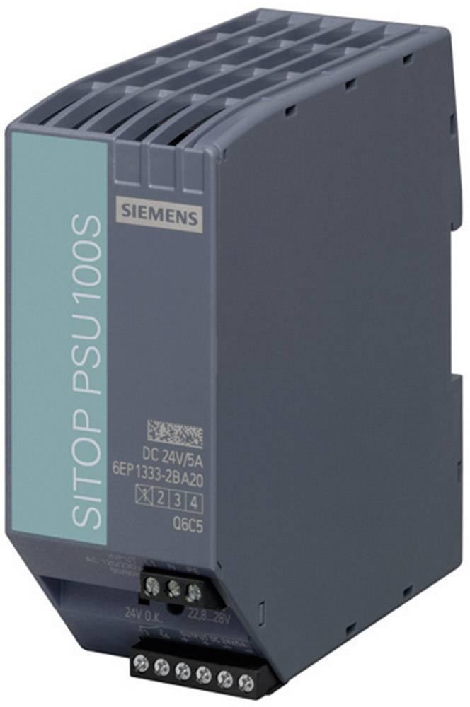 Sieťový zdroj na montážnu lištu (DIN lištu) Siemens SITOP PSU100S 24 V/5 A, 1 x, 24 V/DC, 5 A, 120 W