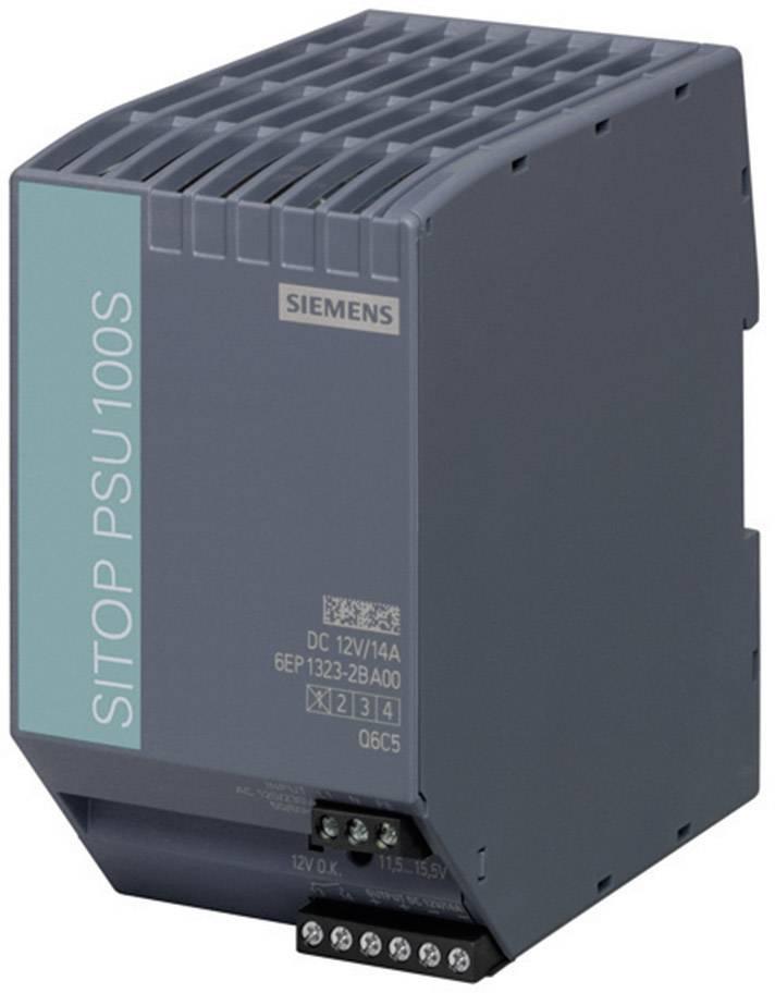 Sieťový zdroj na montážnu lištu (DIN lištu) Siemens SITOP PSU100S 12 V/14 A, 1 x, 12 V/DC, 14 A, 120 W