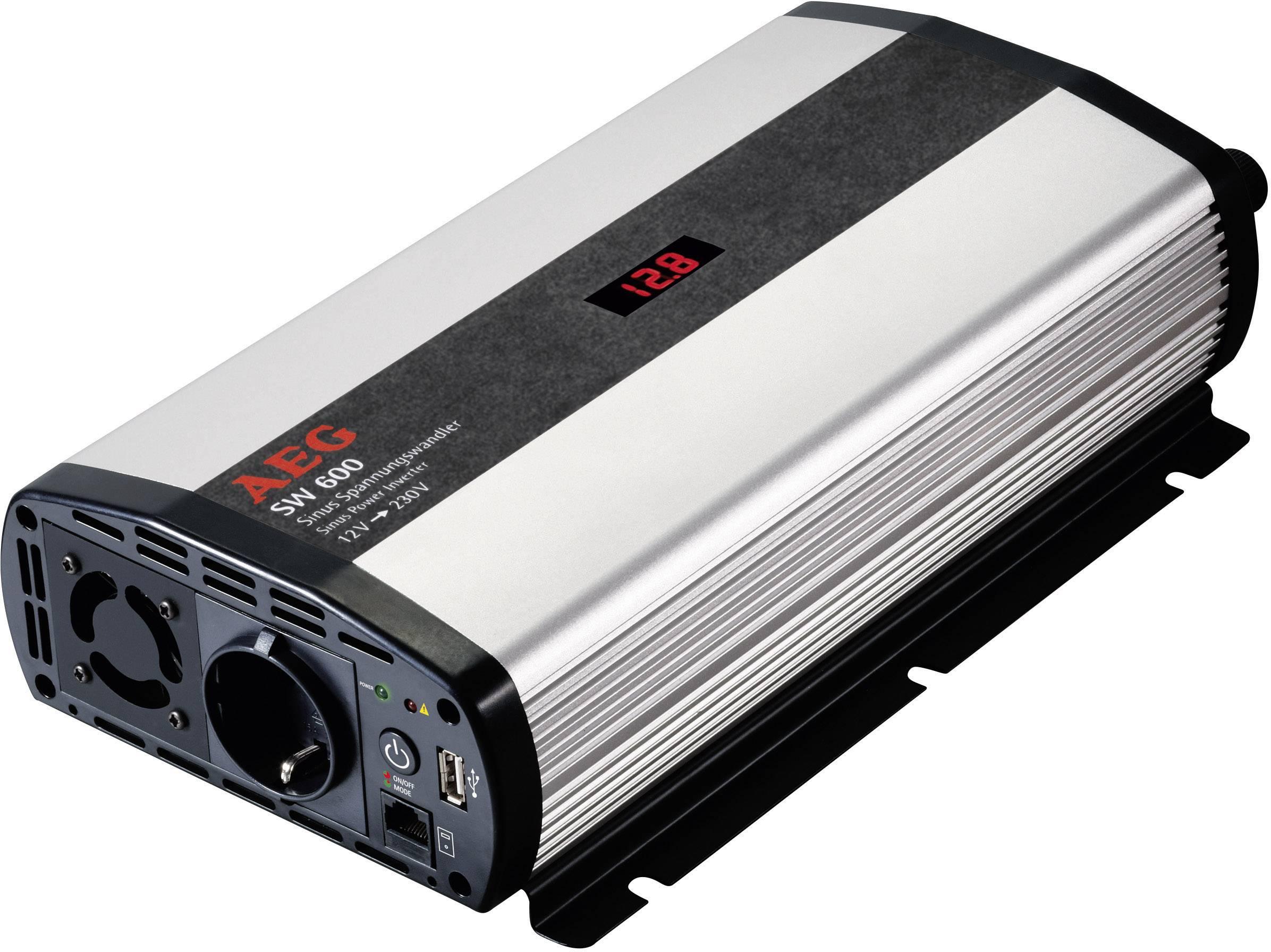 Menič napätia DC / AC AEG SW 600, 600 W, 12 V/DC/230 V/AC, 600 W vr. diaľkového ovládania