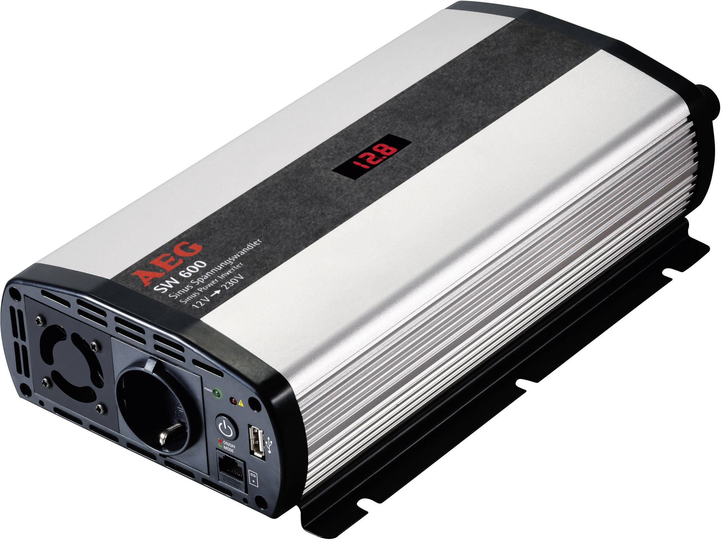 Sinusový měnič napětí DC/AC AEG SW 600, 12V/230V, 600 W