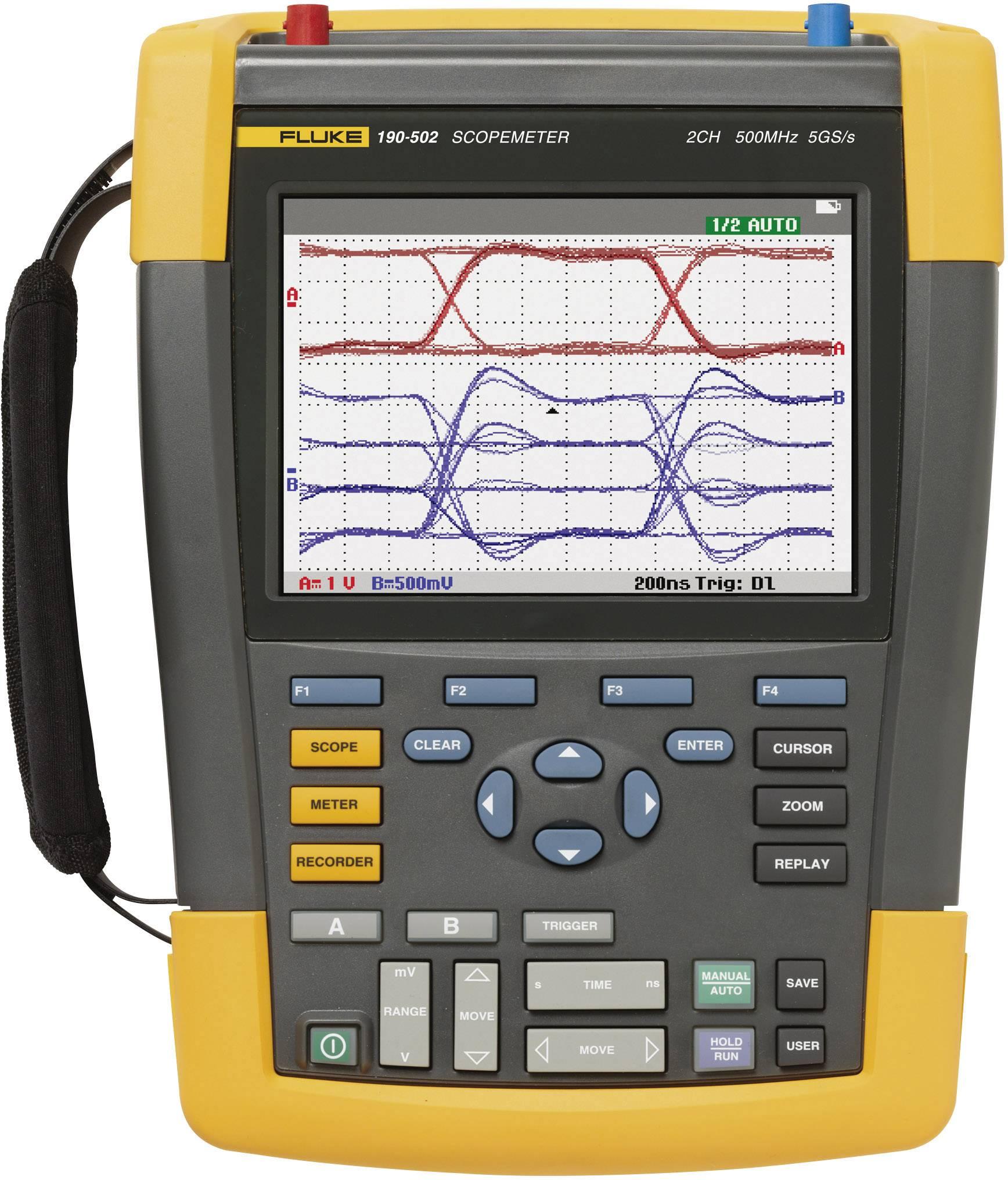 Ručný osciloskop Fluke ScopeMeter 190-502/EU, 500 MHz, 2-kanálová
