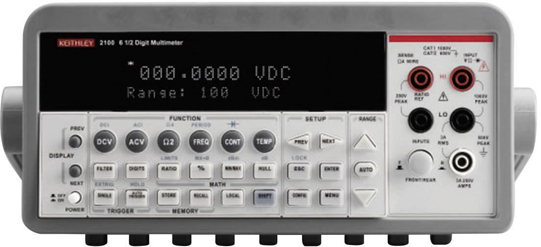 Digitální stolní multimetr Keithley 2100/230-240, Kalibrováno dle ISO