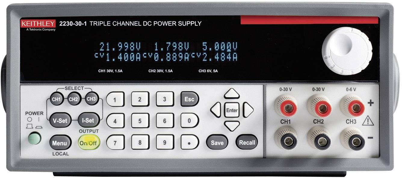 Laboratorní síťový zdroj Keithley 2230-30-1, 0 - 30 V/DC, 0 - 1,5 A, 120 W
