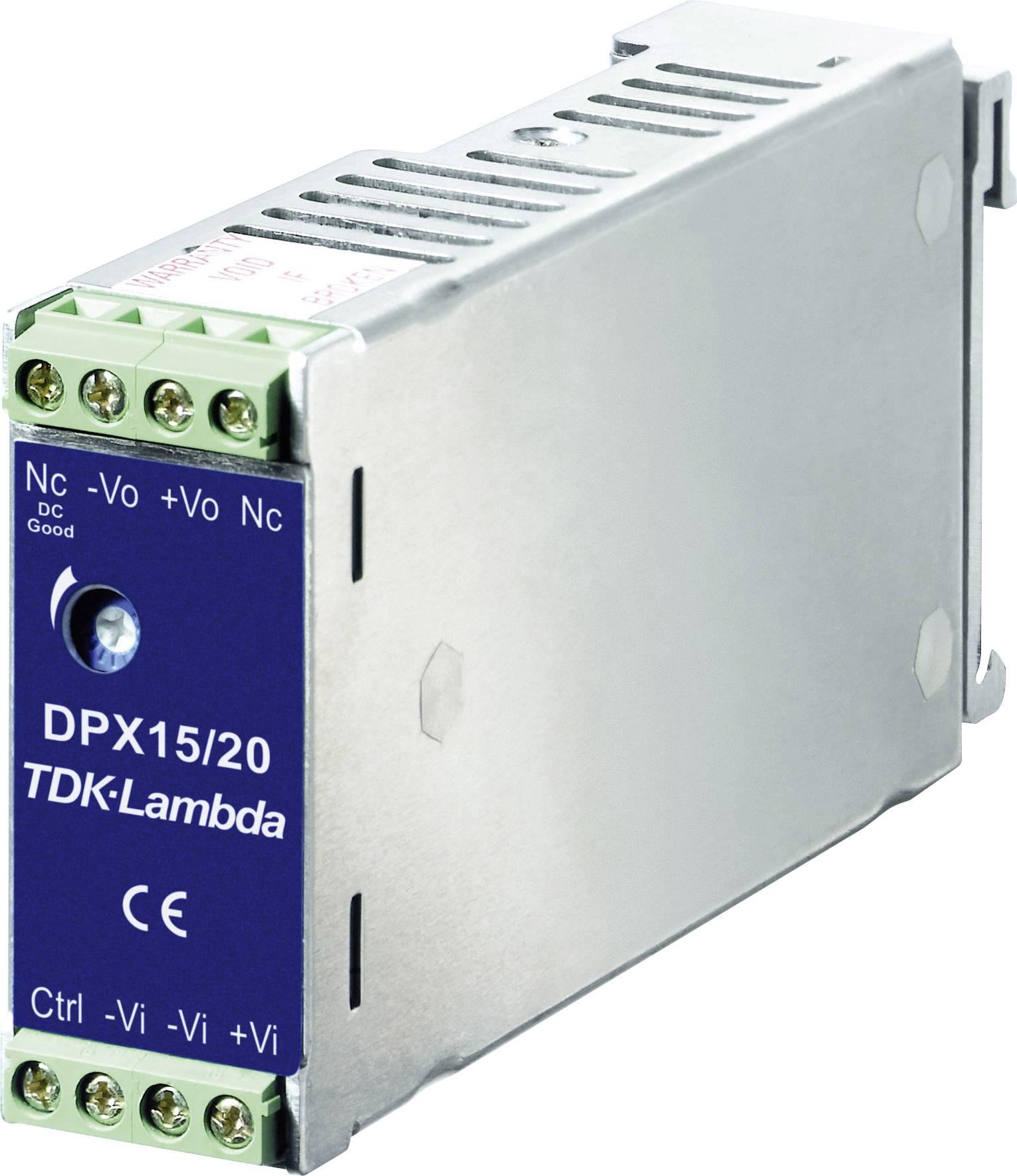 Zdroj na DIN lištu TDK-Lambda DPX-15-48WD-05, ± 1,5 A, ± 5 V/DC