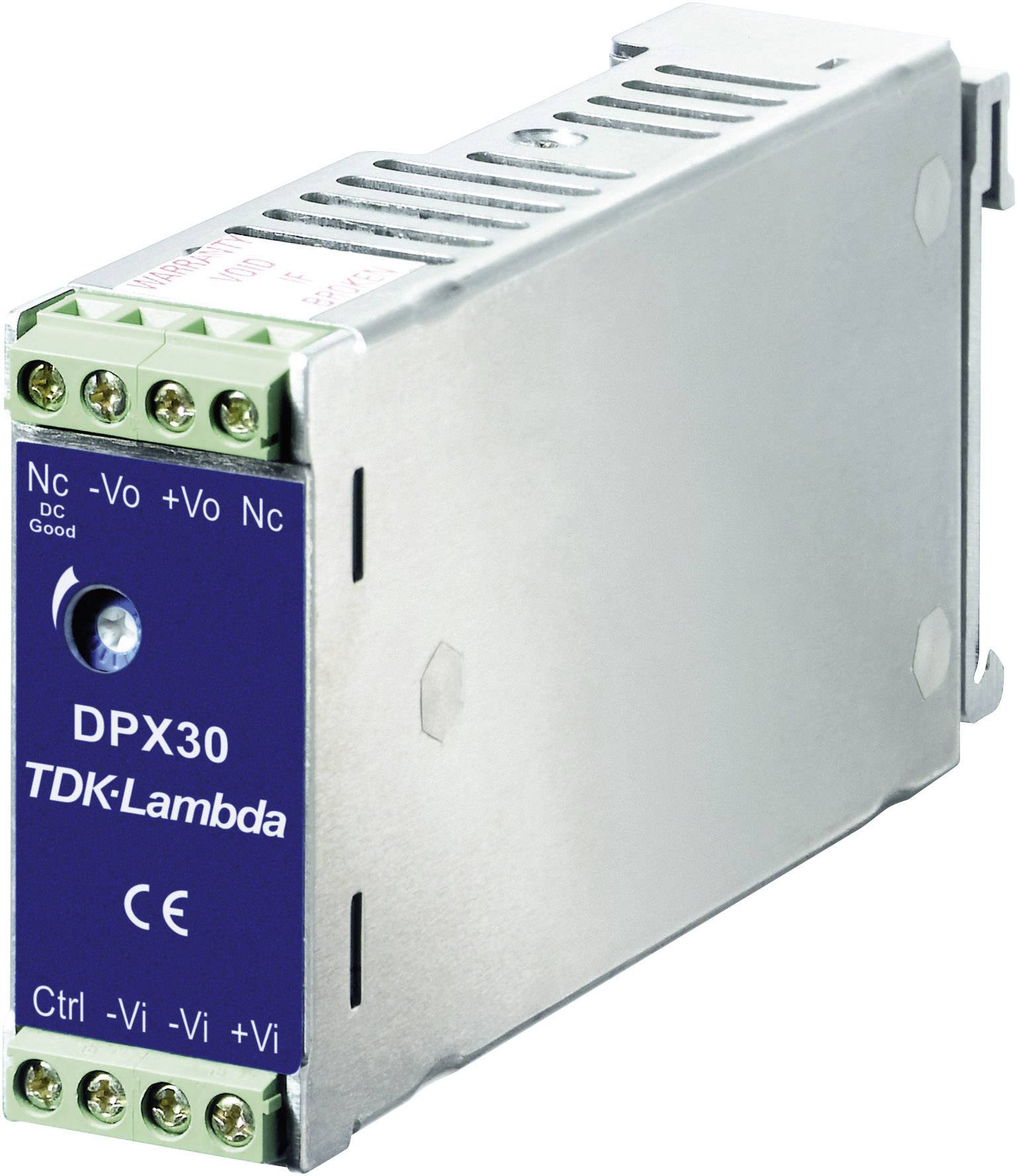 Zdroj na DIN lištu TDK-Lambda DPX-30-48WD-12, ± 1,25 A, ± 12 V/DC