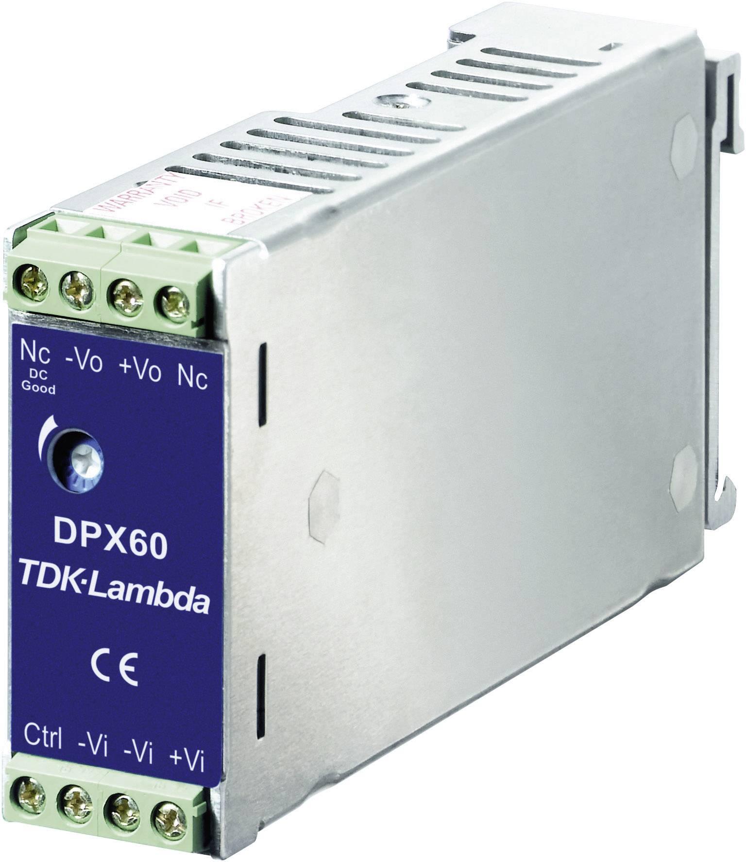 Spínaný síťový zdroj TDK-Lambda DPX60-48S15 na DIN lištu, 15 V/DC, 4 A