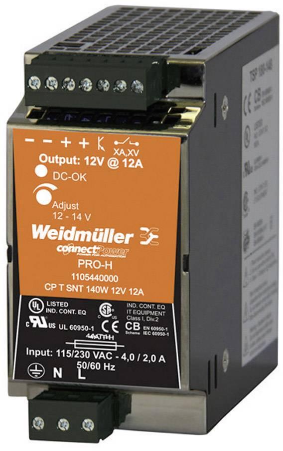 Zdroj na DIN lištu Weidmüller CP T SNT, 1105440000, 12 A, 12 - 14 V/DC