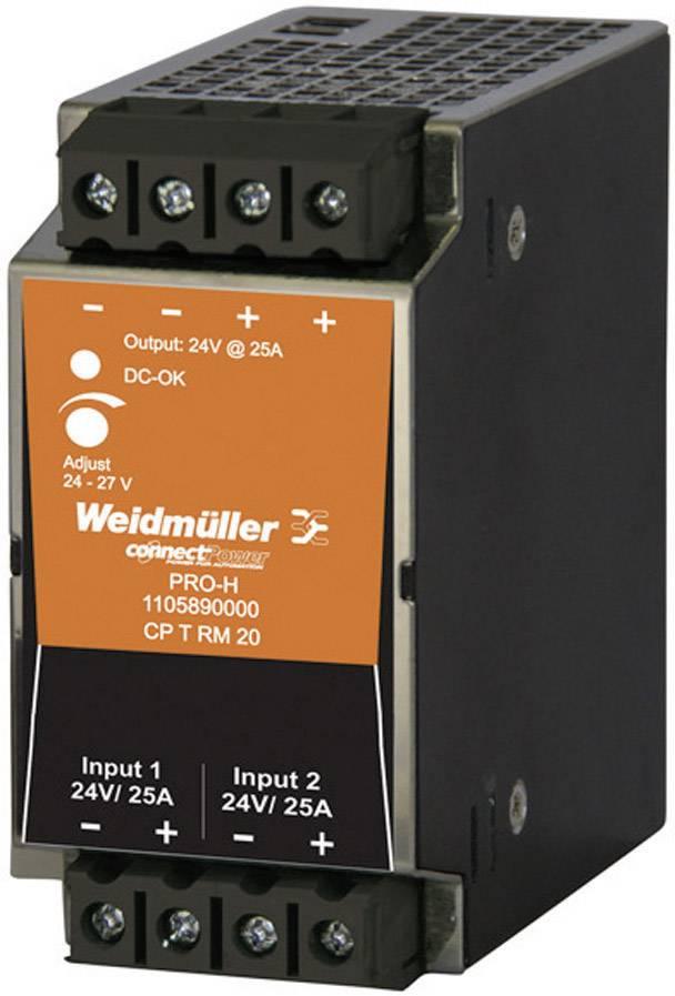 Redundantní modul Weidmüller CP T RM 20 na DIN lištu, 24 - 28 V/DC/25 A